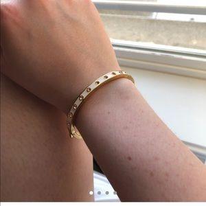 J.Crew thin blush pink and gold hinge bracelet
